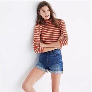 Madewell high rise denim jean cuffed shorts XS